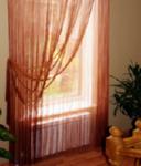 Украшаем окна нитяными шторами