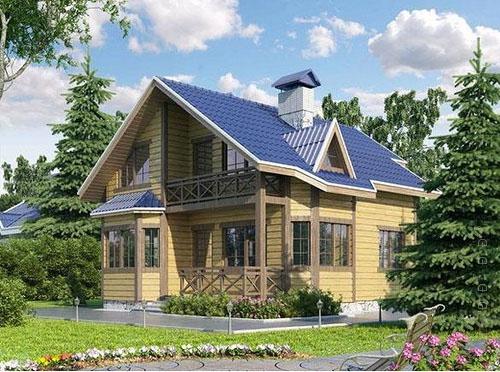 Дачный дом из бруса недорогой