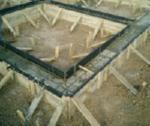 Ленточный фундамент, заглубленный на небольшую глубину