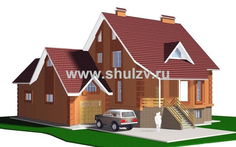 Двухэтажный трехкомнатный жилой дом с  цокольным этажом. Гараж.
