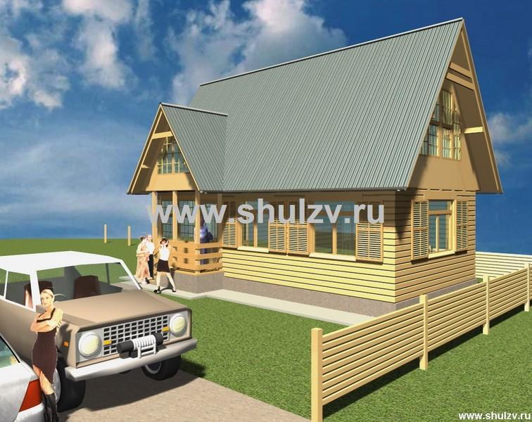 Двухэтажное жилое строение сезонного проживания (дачный домик).