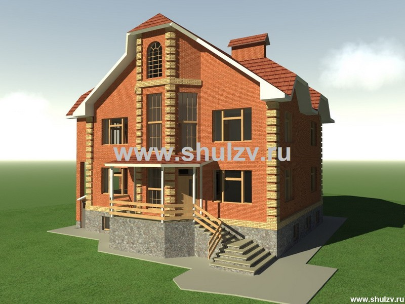 Двухэтажный семикомнатный жилой дом с