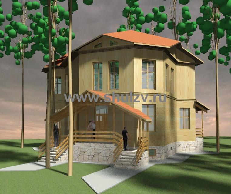 Двухэтажный 4-х комнатный жилой дом