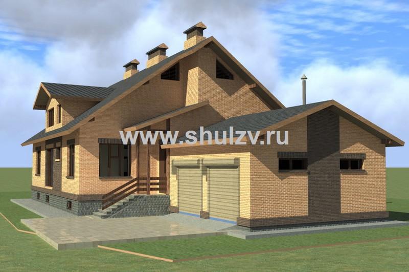 Одноэтажный 4-хкомнатный жилой дом с подвалом и гаражом на 2 машины
