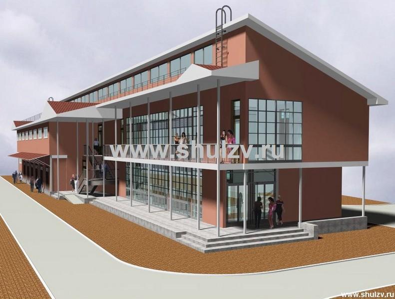 Двухэтажный торговый павильон
