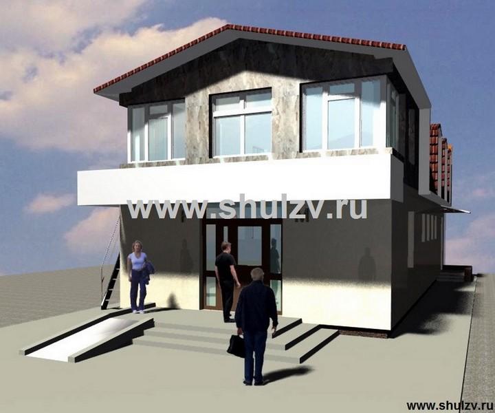 Общественный туалет с служебными помещениями